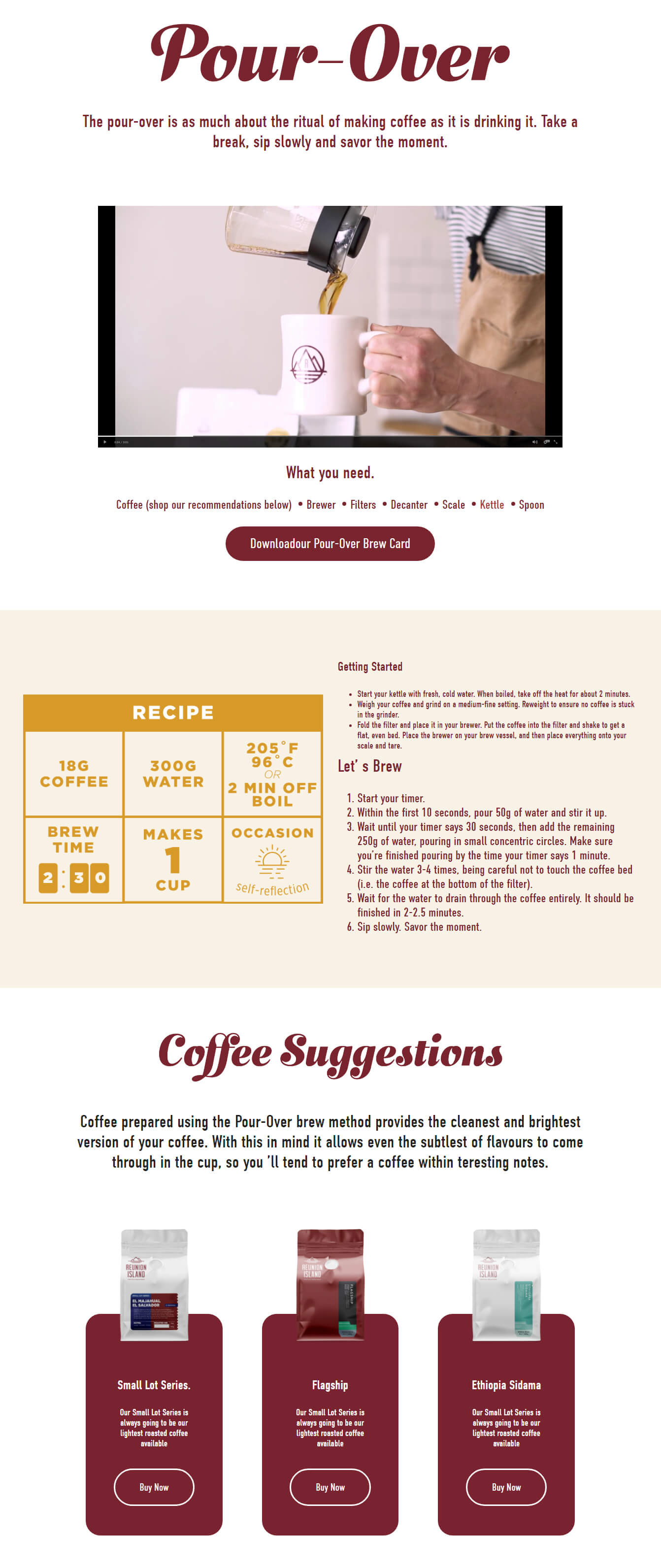 Brew Guides Sub Pages
