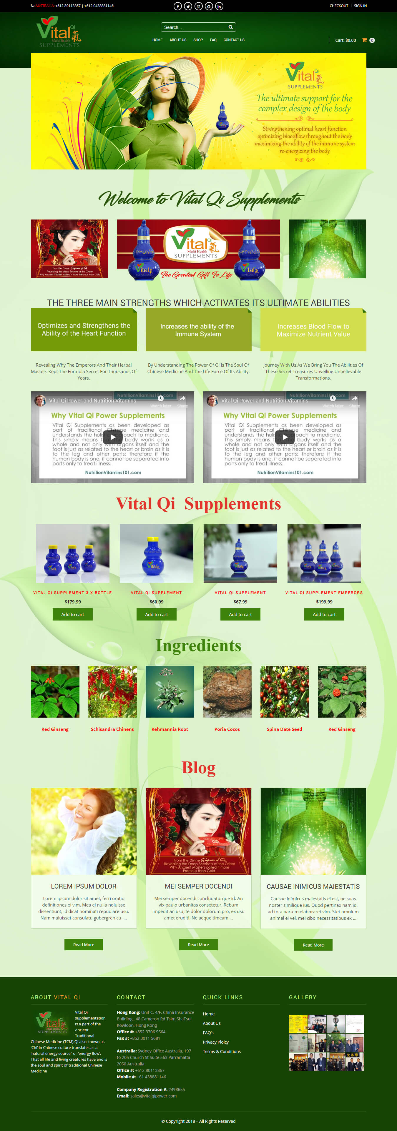 Vital Qi Power – Vital Qi Multi Health Supplements
