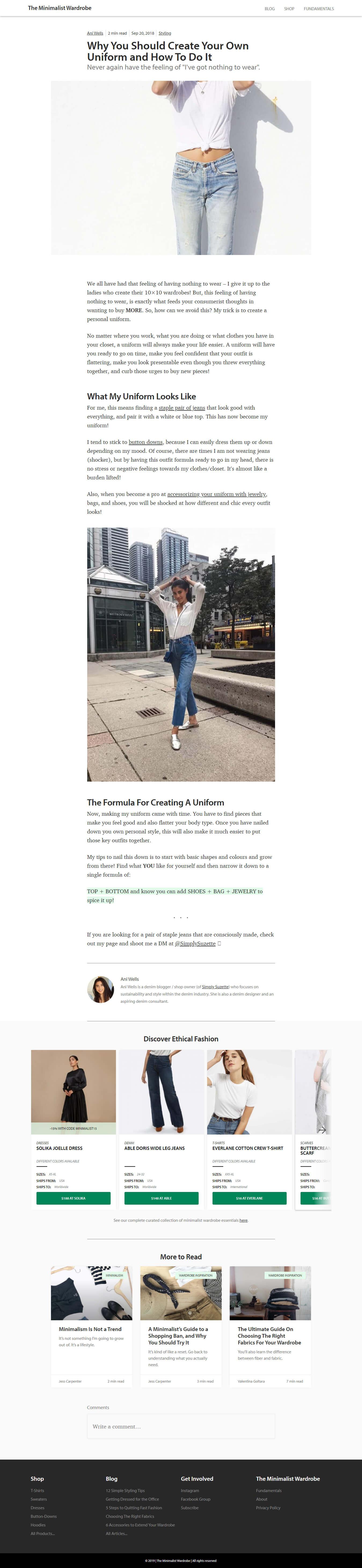 Minimize Your Wardrobe – The Minimalist Wardrobe